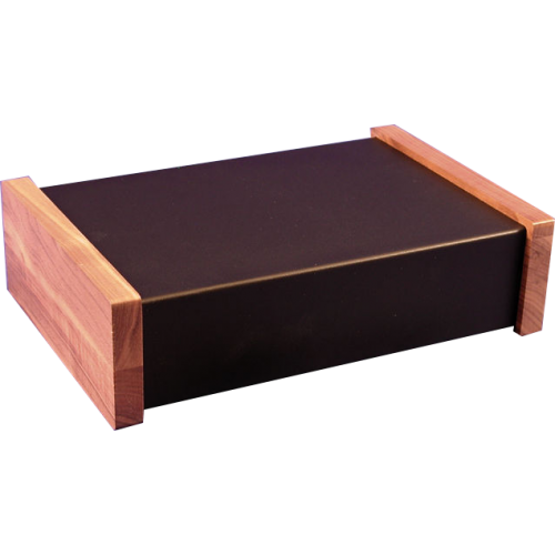 "Chassis Box - Hammond, Steel, 12"" x 8"" x 3"", Walnut Side Panels image 1"