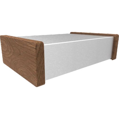 "Chassis Box - Hammond, 12"" x 8"" x 3"", Wood Sides image 1"