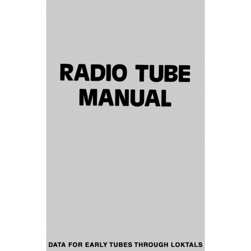 Radio Tube Manual image 1
