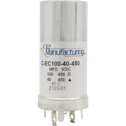 Capacitor - CE Mfg., 450V, 100/40µF, Electrolytic image 1