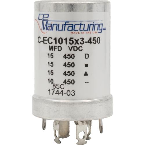 Capacitor - CE Mfg., 450V, 15/15/15/10µF, Electrolytic image 1