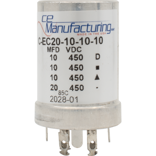 Capacitor - CE Mfg., 450V, 20/10/10/10 µF  image 1