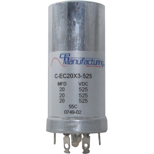 Can Cap, Multi-section, 20/20/20uF 525VDC, CE Manufacturing image 1