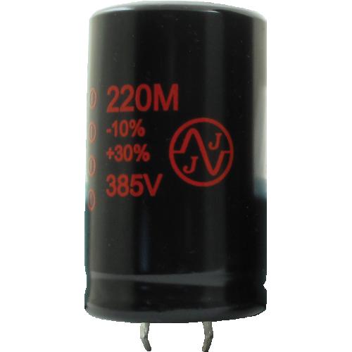 Capacitor - JJ Electronics, 385V, 220µF, Electrolytic image 1