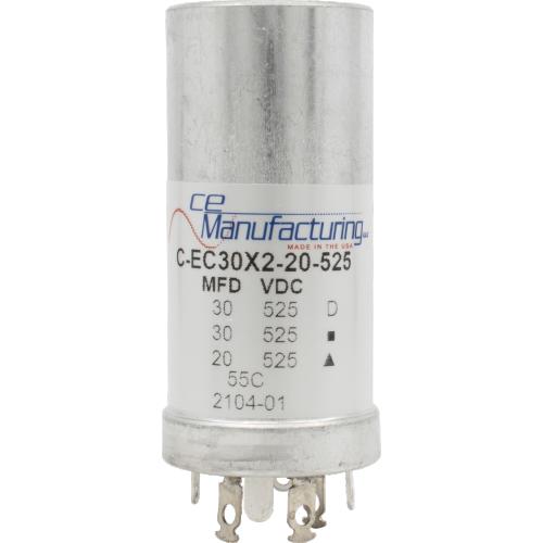 Capacitor - CE Mfg., 525V, 30/30/20 μF image 1
