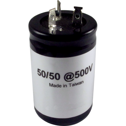 Capacitor, electrolytic, 50/50 uF @ 500 VDC image 1