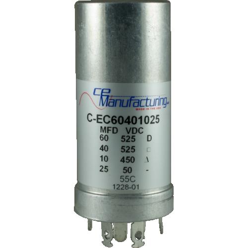 Capacitor - CE Mfg., 60µF@525V, 40@525, 10@450, 25@50 image 1