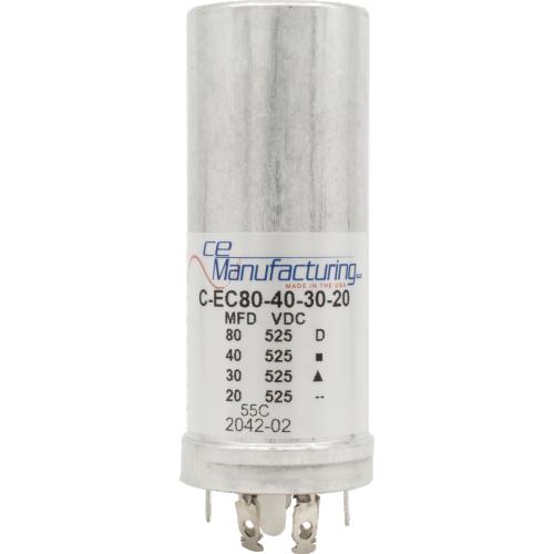 Capacitor - CE Mfg., 525V, 80/40/30/20µF image 1