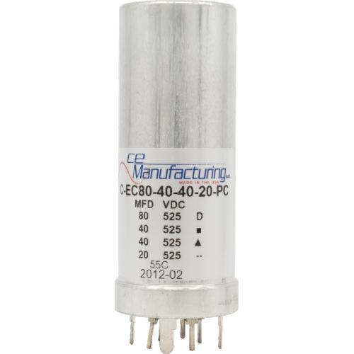 Capacitor - CE Mfg., 525V, 80/40/40/20uF, PC Mount image 1