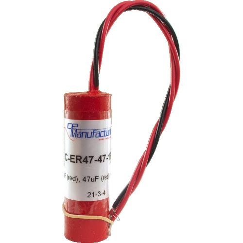 Capacitor - CE Mfg., 160V, 47/47µF, Electrolytic image 1