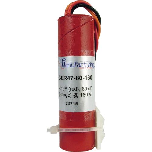 Capacitor - CE Mfg., 160V, 47/80µF, Electrolytic image 1