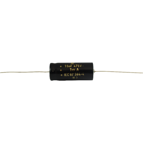 Capacitance: 16//16 µF F/&T Capacitor 450V Multi-Section Electrolytic