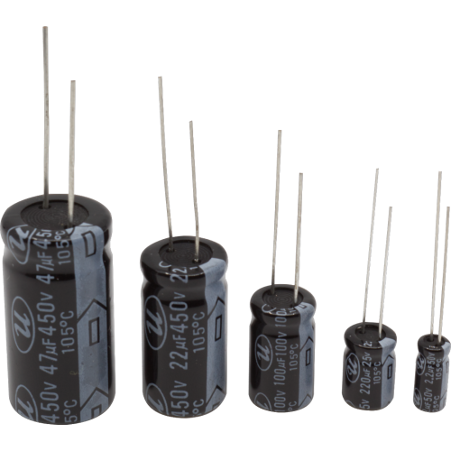 Capacitor - 50V, Radial Lead, Electrolytic image 1