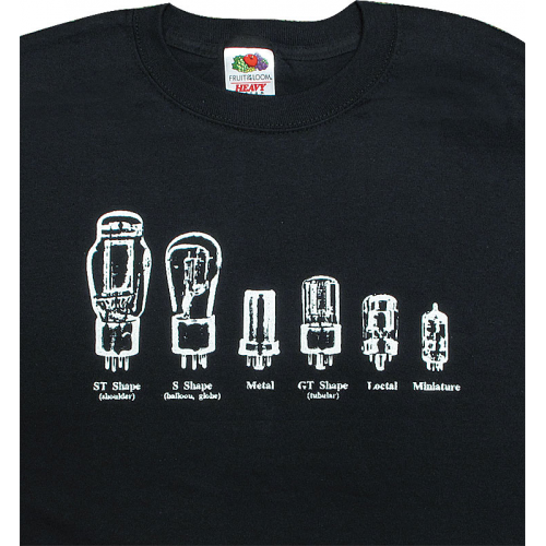 Shirt - Black with Common Tube Shapes image 1