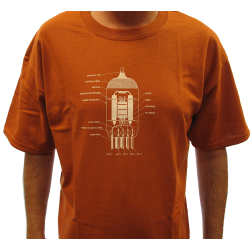 Shirt - Rust with 12AX7 Tube Diagram image 2