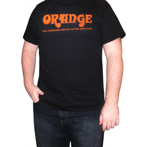 T-Shirt - Orange Amps, Black Retro image 2