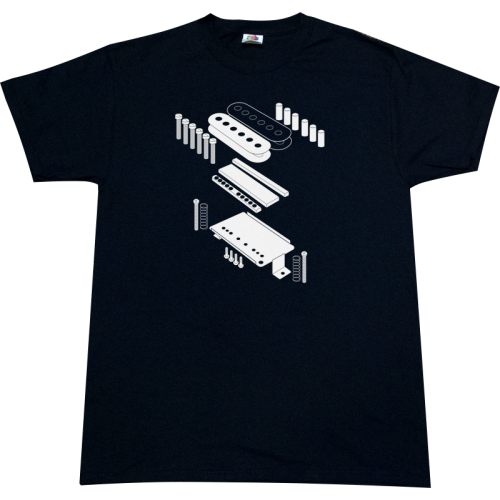 Shirt - Black with Exploded View Pickup image 1