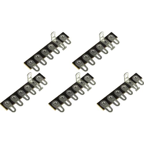 Terminal Strip - 6 Lug, 2nd Lug Common, Horizontal, package of 5 image 1