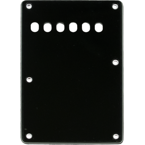 Backplate - Strat style 3-ply, black image 1