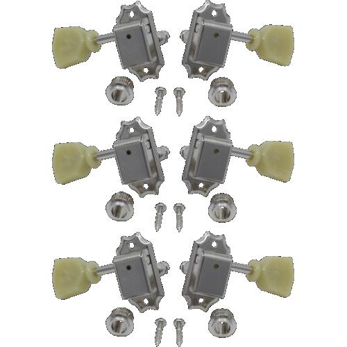 Tuners - Gotoh, Vintage-Style Locking, nickel, 3 per side image 1