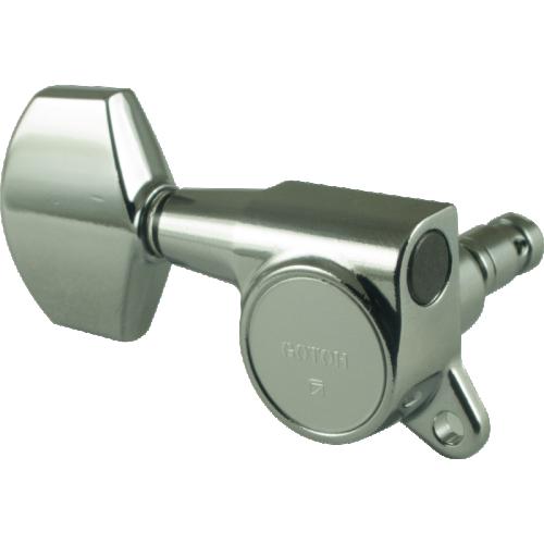 Gotoh Large Locking Schaller-style Knob Chrome Tuners (3 per side) image 1