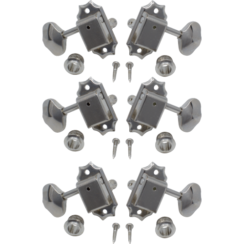 Tuners - Gotoh, Vintage Scalloped-knob, nickel, 3-per-side image 1