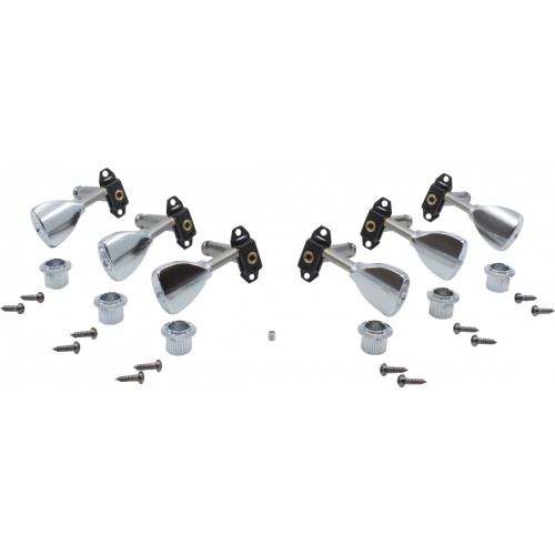 Tuners - Gotoh, Stealth Guitar, chrome, 3-per-side image 1