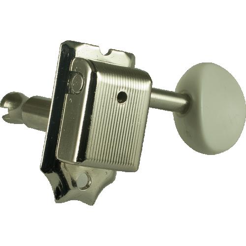 Tuner - Gotoh, Vintage Plastic Oval Knob, nickel, 6-in-line image 1