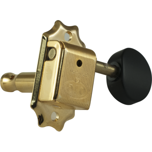 Tuners - Gotoh, SD510, gold, round knobs, 3 per side image 2
