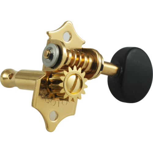 Tuners - Gotoh, SE700, gold, round knob, 3 per side image 2