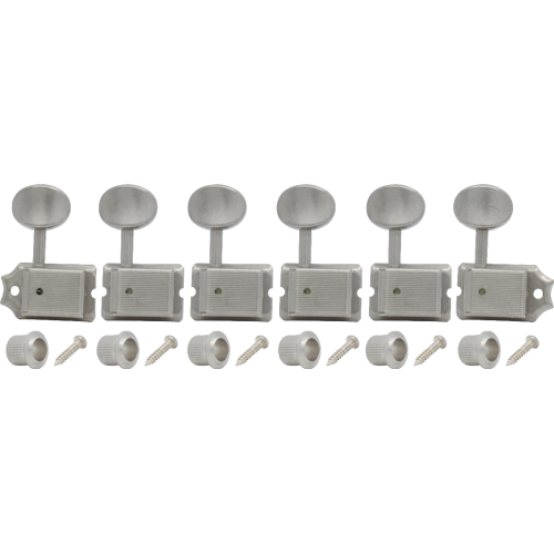 Tuners - Gotoh, Relic, SD91, oval knob, 6-in-a-line, aged nickel image 1