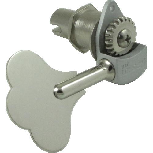 "Tuner - Hipshot, ultra lite Clover key, 1/2"" nickel image 1"