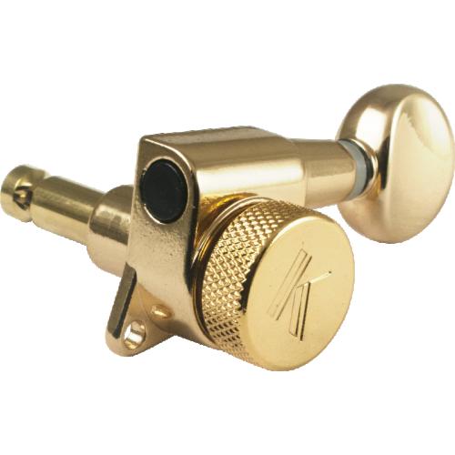 Machine Head - Kluson, 6/line, Oval Metal Button, Gold image 1