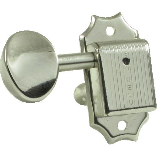 Tuners - Kluson, Oval, 3 per side, Nickel image 2