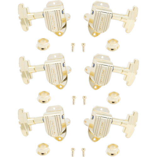 Tuners - Grover, Imperial, 3 per side, gold image 1