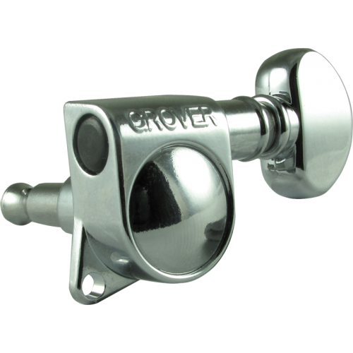 Tuning machine - Grover Mid-size Rotomatic, 6 in line, chrome image 1