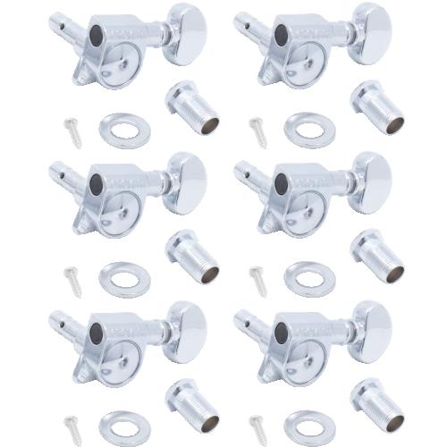 Tuners - Grover, Mini Lock Roto, 6 in a line, 18:1 image 1