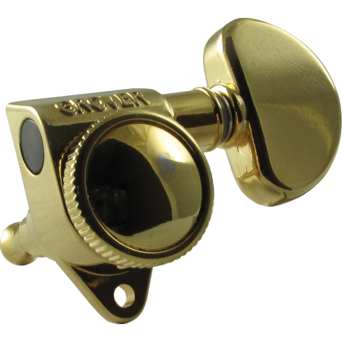 Tuning machine - Grover Rotomatic Roto-Grip locking, 3 per side, gold image 1