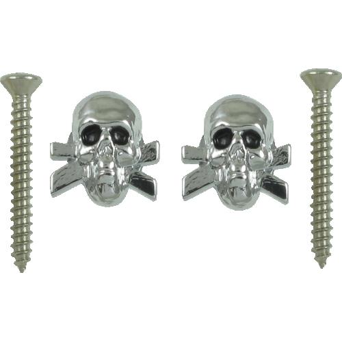 Strap locks, chrome Skulls, Grover image 1