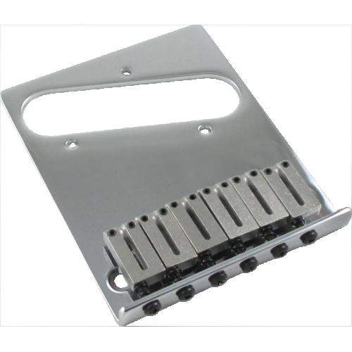 Bridge - Fender®, American Telecaster, 6 Saddle, Chrome image 1