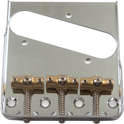 Bridge - Tele, Adjustable Locking Saddles, Chrome image 1