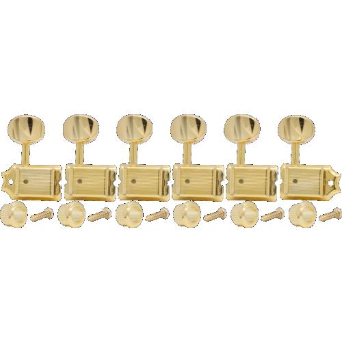 Tuners - Fender®, Vintage Stratocaster / Telecaster, 6 in line, gold image 1