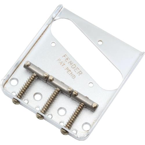Bridge - Fender®, 3 Saddle, for Telecaster, Road Worn®, Chrome image 1