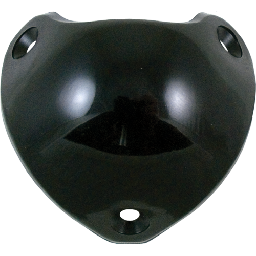 Corner - Marshall, Black Plastic, 3-Hole, with rivets image 1
