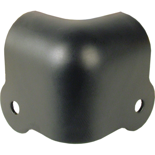 Corner - Black steel, 2-Hole, 18 Gauge, Notched image 1