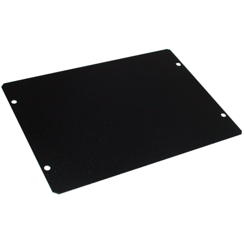 "Cover Plate - Hammond, Steel, 7"" x 5"", Black image 1"