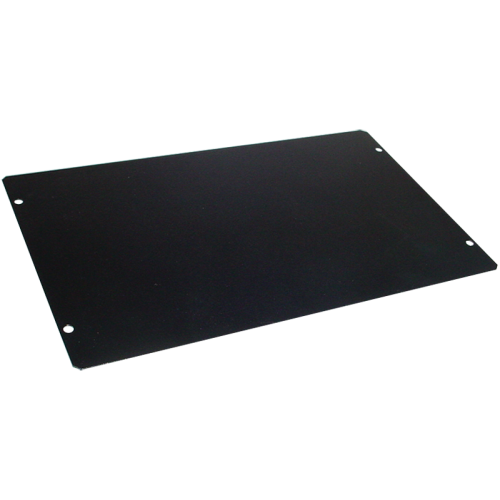 "Cover Plate, Hammond, Black Steel, 10"" x 6"" image 1"