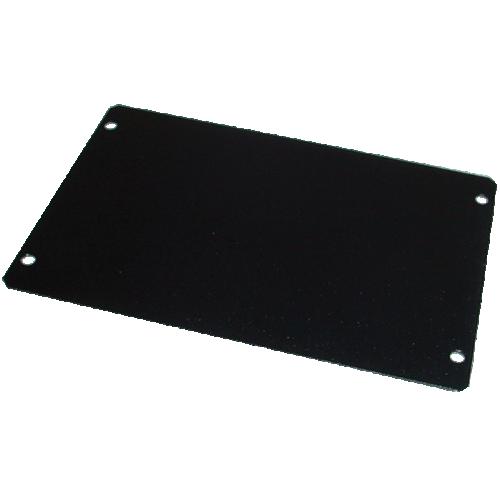 "Cover Plate - Hammond, Steel, 6"" x 4"", Black image 1"