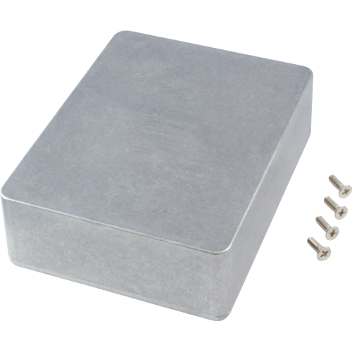 "Chassis Box - Hammond, 1590BB2, Diecast, 4.7"" x 3.7"" x 1.5"" image 1"