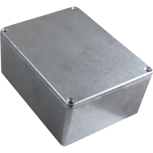 "Chassis Box - Hammond, Unpainted Aluminum, 4.72"" x 3.70"" x 2.07"" image 1"
